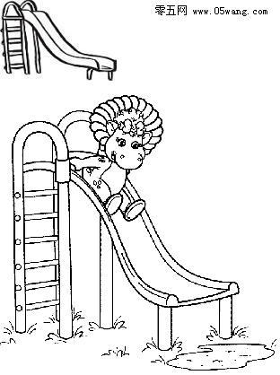 滑滑梯简笔画