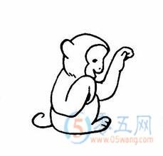 小猴子的简笔画 - 简笔画下载